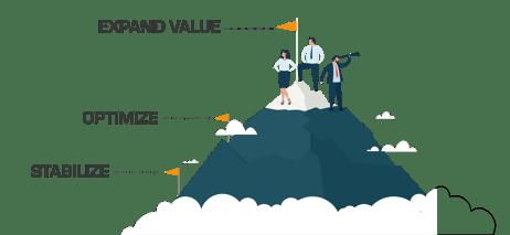 Stabilize - Optimize - Expand Value
