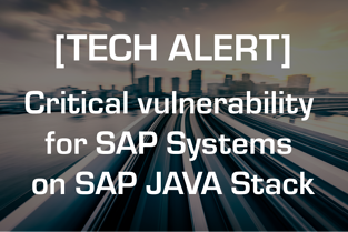 Critical vulnerability for SAP Systems on SAP JAVA Stack