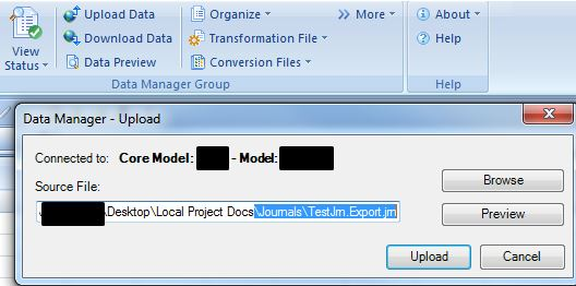 Journal Import and Export Setup Steps - Part 1