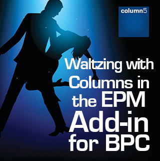 Waltzing with Columns in the EPM Add-in for SAP BPC