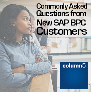 Commonly Asked Questions from New SAP BPC Customers