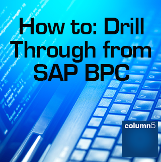 How To: Drill Through from SAP BPC