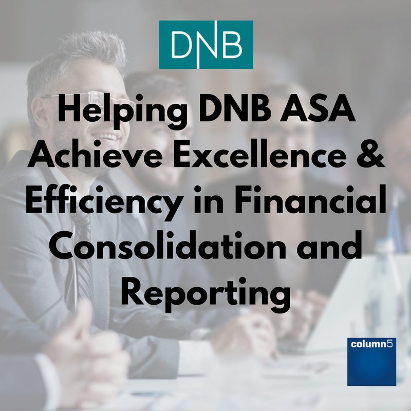 Helping DNB ASA Achieve Excellence and Efficiency in Financial Consolidation and Reporting