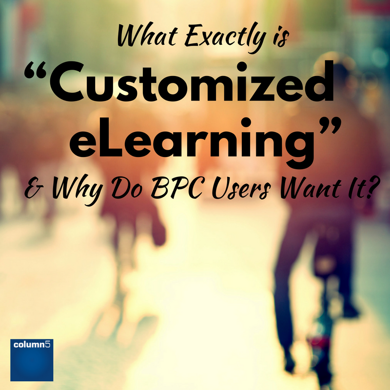 "What Exactly is ""Customized eLearning"" and Why Do BPC Users Want It?"